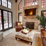 Ashley Furniture Indianapolis for Traditional Family Room with Brown Leather