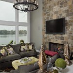 Ashley Furniture Indianapolis for Transitional Family Room with Vaulted Ceiling