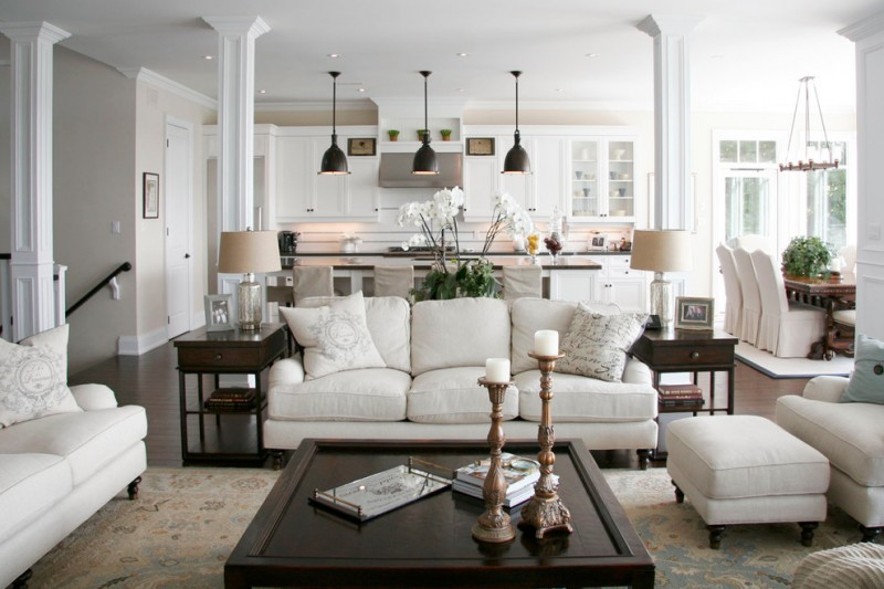 Ashley Furniture Warranty for Traditional Living Room with Ring Chandelier