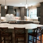 Ashley Norton Hardware for Transitional Kitchen with Grey Stain on Alder