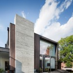 Asphalt vs Concrete for Contemporary Exterior with Roof Wall