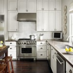 Asphalt vs Concrete for Traditional Kitchen with Wide Plank