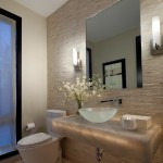 Atg Lighting for Contemporary Powder Room with Small Tank Toilet