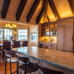 Atg Lighting for Eclectic Kitchen with Blond Stained Wood
