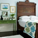Atlanta Homes and Lifestyles for Eclectic Bedroom with Nightstand