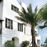 Atlanta Homes and Lifestyles for Tropical Exterior with Window Treatments