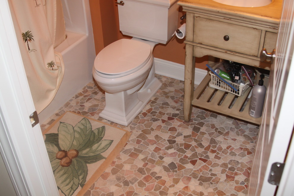 Avalon Flooring for Contemporary Powder Room with Bathrooms