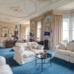 Axminster Carpet for Victorian Living Room with Cornice