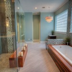 Azure Dallas for Contemporary Bathroom with Gray Tile Shower Wall