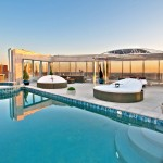 Azure Dallas for Contemporary Pool with Glass Wall