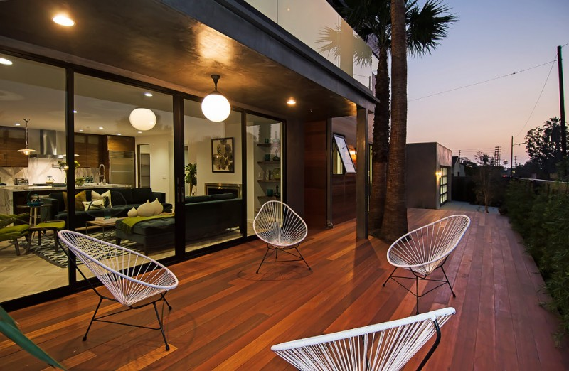 Baby Acapulco for Contemporary Deck with Contemporary Chairs