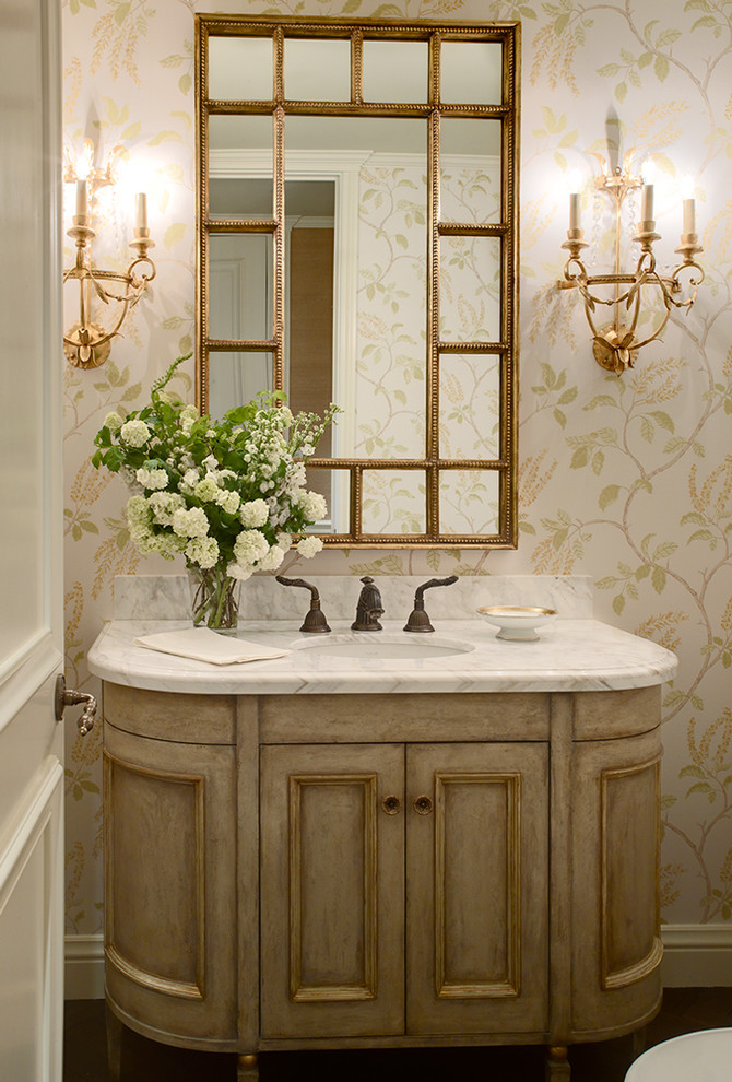 Backpage San Francisco for Traditional Powder Room with Sconce
