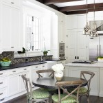 Ballard Hardware for Shabby Chic Style Kitchen with Wood Trim