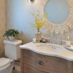 Ballard Hardware for Traditional Powder Room with Neutral Colors