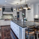 Ballard Hardware for Transitional Kitchen with Inner Cabinet Lighting