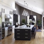 Ballard Hardware for Transitional Kitchen with Light Wood Flooring