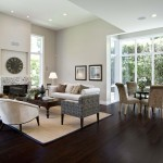 Bamboo Sherman Oaks for Contemporary Family Room with Beige Wall