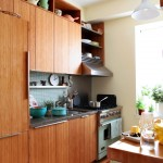 Bamboo Sherman Oaks for Eclectic Kitchen with Floating Shelves