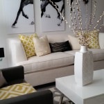 Bamboo Sherman Oaks for Transitional Family Room with Yellow