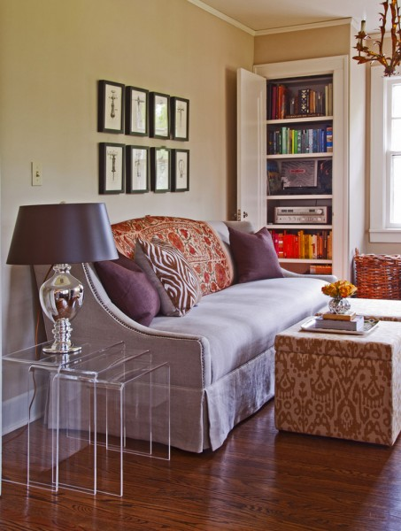 Barbara Cosgrove for Eclectic Living Room with Throw Pillows