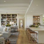 Barndominium Floor Plans for Transitional Living Room with Kitchen Island