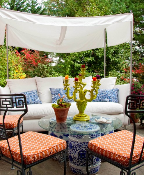 Barrow Furniture for Contemporary Patio with Sun Shade