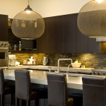 Barstool Chicago for Contemporary Kitchen with Lamp Globe