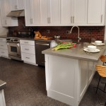 Barstool Chicago for Contemporary Kitchen with Shaker Cabinets