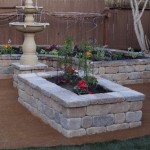 Basalite for Traditional Landscape with Planter Box