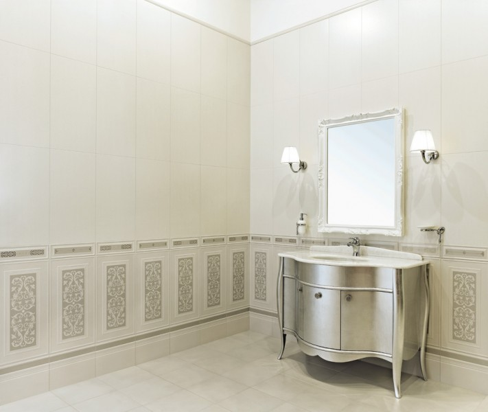 Bassani for Eclectic Bathroom with High End Vanity
