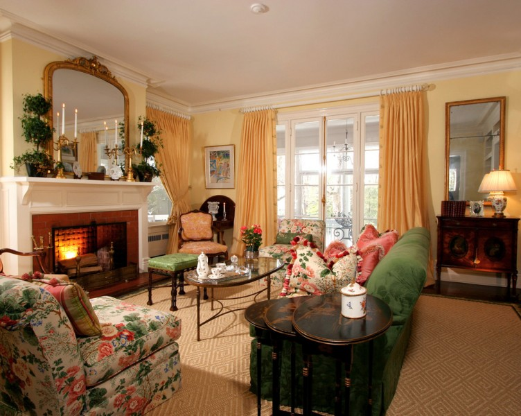 Bassett Mirror Company for Traditional Living Room with Gold
