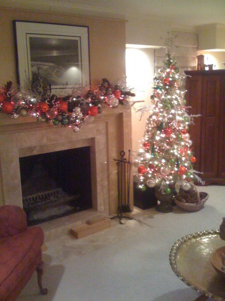 Baubles and Beads for Eclectic Living Room with Holiday Design