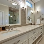 Beaver Tile for Traditional Bathroom with Undermount Sinks