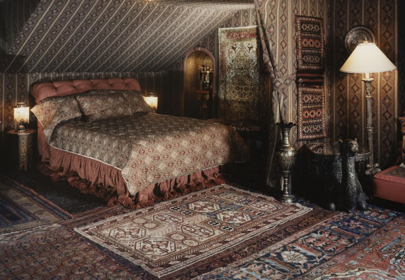 Bedouin Tent for Eclectic Bedroom with Serapi Rug