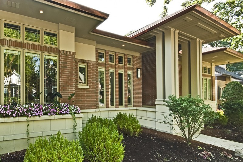 Belden Brick for Traditional Exterior with Lantern