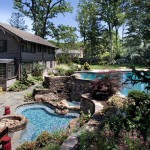 Bellagio Day Spa for Eclectic Pool with Vanishing Edge