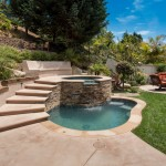 Bellagio Day Spa for Traditional Pool with Stone Hot Tub