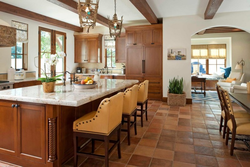 Belterra Austin for Mediterranean Kitchen with Stained Kitchen Island