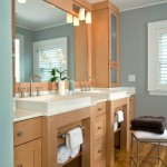 Benjamin Moore Beach Glass for Contemporary Bathroom with Shaker Style
