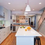 Benjamin Moore Beach Glass for Contemporary Kitchen with Gray Cabinets