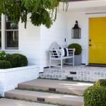 Benjamin Moore Dove White for Traditional Entry with Hardscape