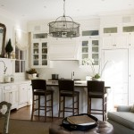 Benjamin Moore Dove White for Traditional Kitchen with Eat in Kitchen