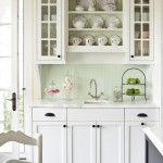 Benjamin Moore Dove White for Traditional Kitchen with Plates