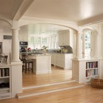 Benjamin Moore Dove White for Traditional Kitchen with Wood Flooring