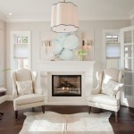 Benjamin Moore Dove White for Transitional Living Room with Seating Area