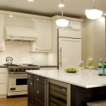 Benjamin Moore Grant Beige for Traditional Kitchen with Glass Cloche