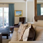 Benjamin Moore Grant Beige for Traditional Living Room with Blue