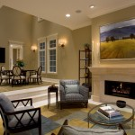 Benjamin Moore Grant Beige for Traditional Living Room with Sconce