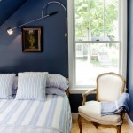 Benjamin Moore Hale Navy for Beach Style Bedroom with Baseboards