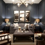 Benjamin Moore Hale Navy for Contemporary Family Room with Millwork
